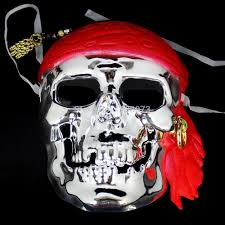 pirates of the caribbean pirate skull mask scream scary full face