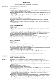physical therapist resume physical therapy resume sles velvet