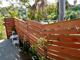 Privacy Trellis Ideas by Building A Horizontal Plank Fence Hgtv
