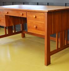 ethan allen mission influenced cherry desk ebth