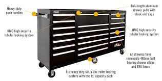 rolling tool storage cabinets homak h2pro 72in 21 drawer rolling tool cabinet black 71 5 8in