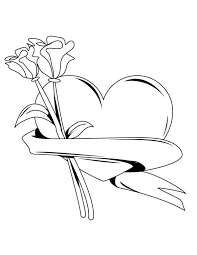my hearts and roses for you coloring page color luna