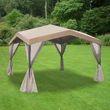 menards gazebo replacement canopy garden winds