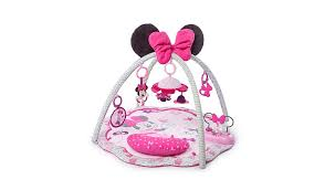 disney baby minnie mouse bow cute activity gym baby george