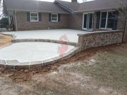 Backyard Cement Ideas Top 5 Backyard Decks Home Design Ideas