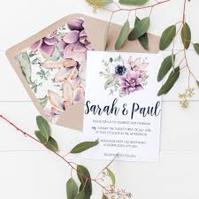 wedding invitations floral floral succulents wedding invitations me do designs