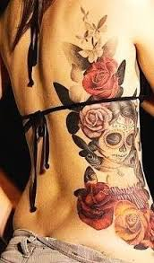 and roses back tattoo