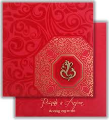 ganesh wedding invitations colored velvet design with ganesha laser cutting