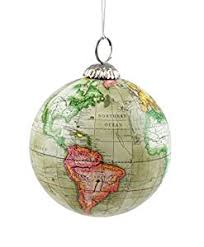 world map globe hanging tree ornament by