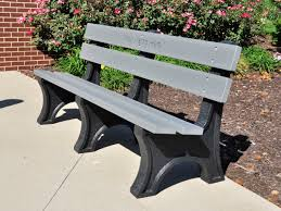 Recycled Plastic Furniture Colonial Bench By Jayhawk Plastics Outdoor Benches For Trails