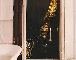 Eiffel Tower Bedroom Curtains Taking A Bath In Front Of The Eiffel Tower
