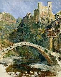 Claude Monet Blind The Castle Of Dolceacqua Claude Monet As Art Print Or Hand