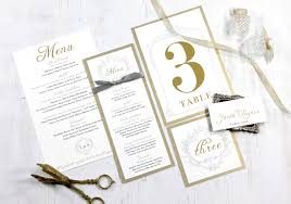 wedding menu cards gold menu cards wedding place cards wedding table