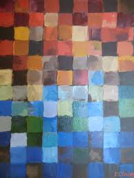 abstract color squares original acrylic canvas painting