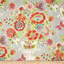 waverly dena home blissful bouquet sherbert home decorating fabric