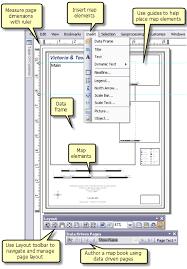 user layout en español a quick tour of page layouts help arcgis desktop