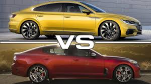 volkswagen arteon rear 2018 volkswagen arteon vs 2018 kia stinger youtube