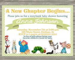 storybook themed baby shower storybook themed baby shower invitations diabetesmang info