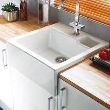 White Ceramic Kitchen Sink 1 5 Bowl Astracast Canterbury 1 5 Bowl Ceramic Kitchen Butler Sink Grey