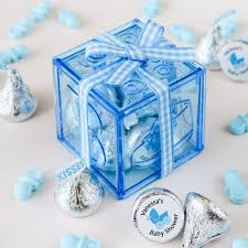 Blue Favor Boxes by Baby Block Favor Boxes
