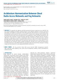 Wcf Resume Sample by Architecture Harmonization Between Cloud Radio Access Network And Fog U2026