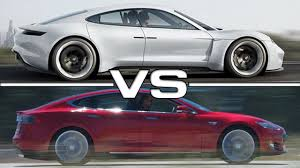 porsche mission e charging porsche mission e vs tesla model s youtube