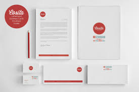 Business Card And Letterhead Design Template Cosita Corporate Identity Business Card Envelope Letter Head