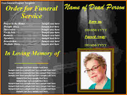 funeral programs templates free 7 funeral program templates free letterhead template sle