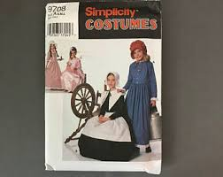 Puritan Halloween Costume Farm Dress Pattern Etsy
