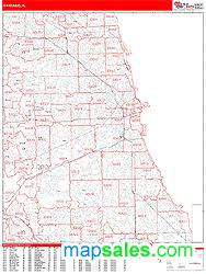 chicago zip code map chicago illinois zip code wall map line style by marketmaps
