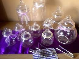 wedding decoration accessories sweet candy jars with tongs in