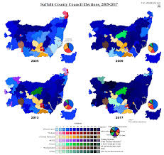 Suffolk County Free Map Free Suffolk County Council Elections 2005 2017 By Ajrelectionmaps On