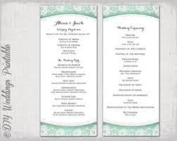 Wedding Program Order Creative Wedding Program Template Outline Of A Wedding Ceremony
