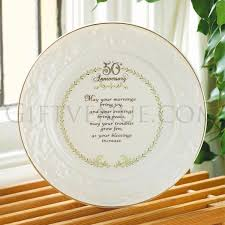 50th anniversary plate engraved 50th golden wedding anniversary plate by belleek top 50th