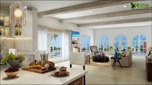 Kitchen Living Room Designs 3d Interior Living Kitchen Room Concept Yantram Architectural