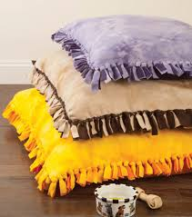 No Sew Project How To - how to make a bed for your dog using fleece or scrap fabric dog