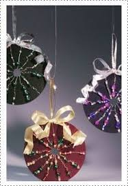 recycle cd s into colorful trendy ornaments with a