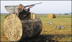 How To Make A Hay Bail Blind Covered Up