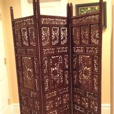 Hanging Curtain Room Divider by Art Room Dividers Tranquility Shutter Screen Wooden Rosewood