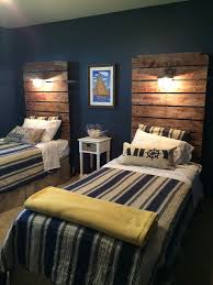 a large headboard with overhead light wood headboard industrial
