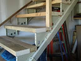 garage 12 step deck stair stringer stair treads for garage steps
