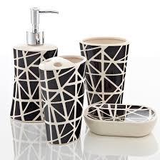Black Bathroom Accessories by Royal Club Ceramic Bath Accessories Set