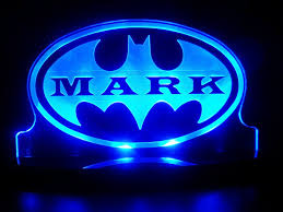Night Light Kids Room by Personalized Batman Super Hero Led Lamp Night Light With Custom