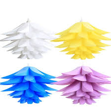 plastic pendant light shades party decorative lighting candy color flower plastic lshade diy