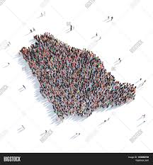 3d Map Of The World by Large And Creative Group Of People Gathered Together In The Form