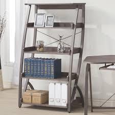 Weathered Bookcase Weathered Grey Bookcase Coaster 800432