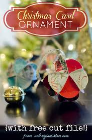 diy card ornaments with free cut file unoriginal