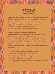 wedding wishes kahlil gibran wedding reading from the prophet by kahlil gibran wedding words