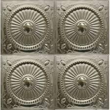 Tin Ceiling Xpress by 126 Tin Metal Ceiling Tile Roman Medallion Design