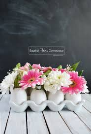 flower centerpieces diy eggshell flower centerpiece little inspiration